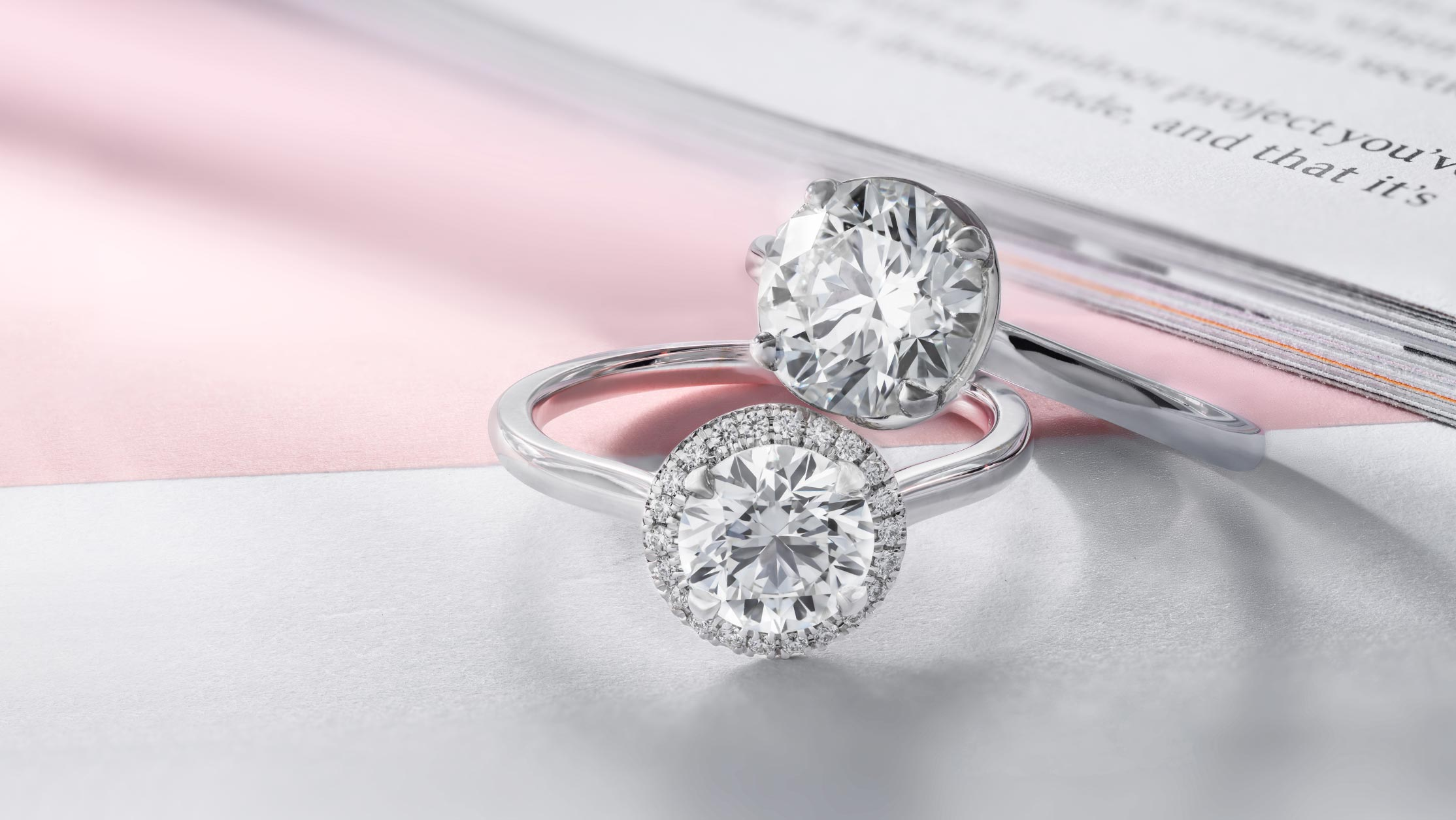 Halo and Solitaire engagement rings