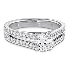 Adoration Double Row Engagement Ring