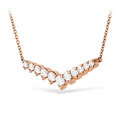Aerial Diamond V Necklace
