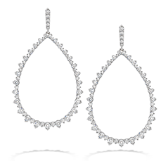 Aerial Pointed Teardrop Earrings