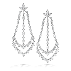 Aerial Triple Diamond Chandelier Earrings