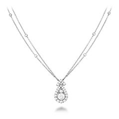 Aerial Victorian Halo Drop Necklace