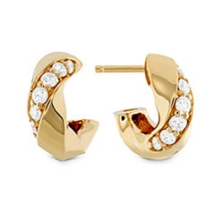 Atlantico Wave Diamond Hoops
