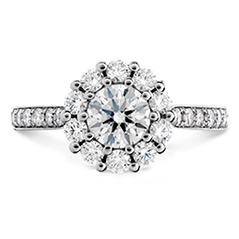 Beloved Open Gallery Engagement Ring-Diamond Band