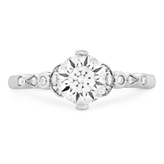 Cali Chic Double Petal Bezel Engagement Ring