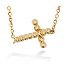 Charmed Horizontal Beaded Cross Necklace