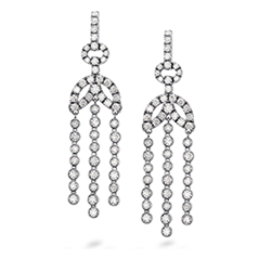 Copley Bezel Chandelier Earrings