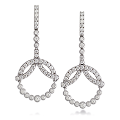 Copley Diamond Circle Drop Earrings