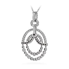 Copley Diamond Circle Pendant Necklace