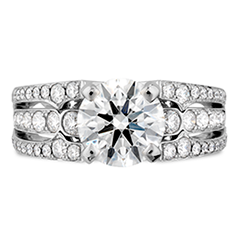 Copley Diamond Triple Row Engagement Ring