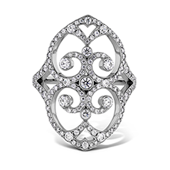 Copley Double Diamond Heart Right Hand Ring