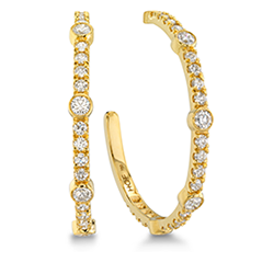 Copley Large  Bezel Hoop Earrings