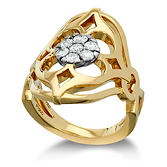 Copley Pave Right Hand Ring