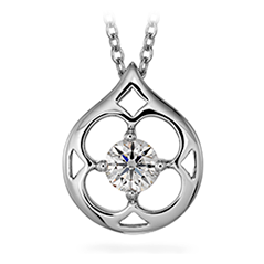Copley Single Diamond Drop Pendant Necklace