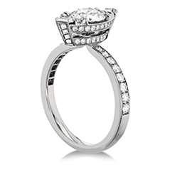 Desire Regal Engagement Ring - Diamond Band