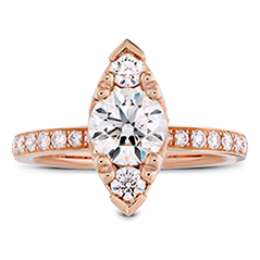 Desire Regal Engagement Ring - Diamond Band