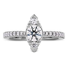 Destiny Regal Engagement Ring - Diamond Band