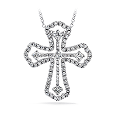Divine Duet Cross Pendant Necklace