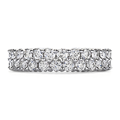 Double-Row Eternity Band Right Hand Ring