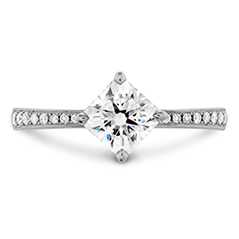 Dream Offset Signature Engagement Ring-Diamond Band