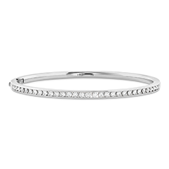 HOF Classic Channel Diamond Bangle - 210