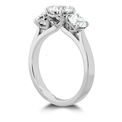 HOF Signature Classic Three Stone Engagement Ring