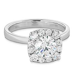 HOF Signature Custom Halo Engagement Ring