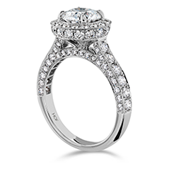 Illustrious Halo Engagement Ring-Diamond Band