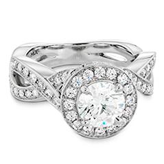 Illustrious Halo Twist Diamond Engagement Ring