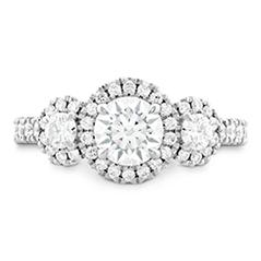 Integrity HOF Three Stone Engagement Ring