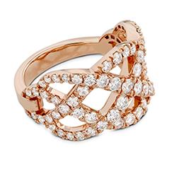 Intertwining Diamond Right Hand Ring