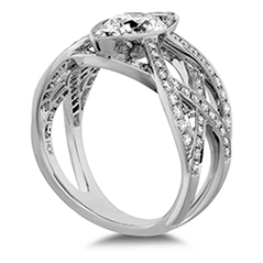 Intertwining Regal Diamond Engagement Ring