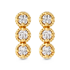 Liliana Milgrain Diamond Bar Earrings