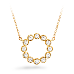 Liliana Milgrain Diamond Circle Pendant