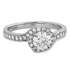 Lorelei Bloom Engagement Ring-Diamond Band