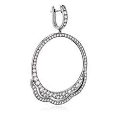 Lorelei Diamond Circle Earrings