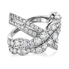 Lorelei Diamond Cross Over Ring