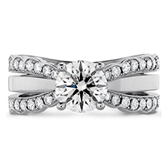 Lorelei Double Diamond Row Engagement Ring