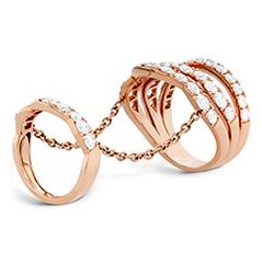 Lorelei Double Link Wave Ring
