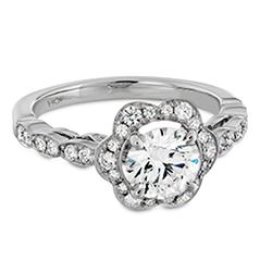 Lorelei Floral Engagement Ring