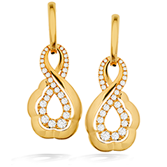 Lorelei Gold Infinity Earrings