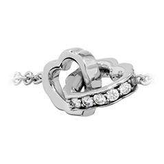 Lorelei Interlocking Diamond Heart Bracelet