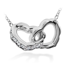 Lorelei Interlocking Diamond Heart Necklace