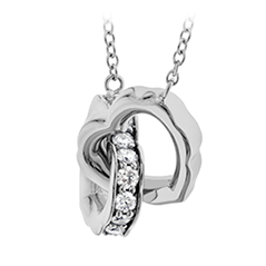 Lorelei Interlocking Diamond Heart Necklace| Hearts On Fire