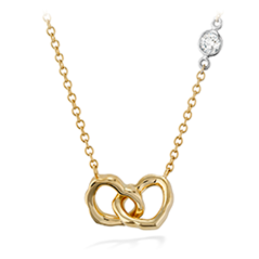 Lorelei Interlocking Heart Necklace