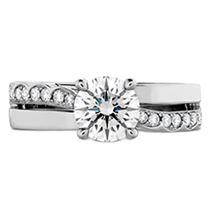 Lorelei Single Cross Over Engagement Ring