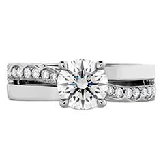 Lorelei Single Cross Over Engagement Ring