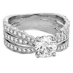 Lorelei Triple Diamond Row Engagement Ring