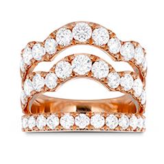 Lorelei Triple Wave Diamond Ring