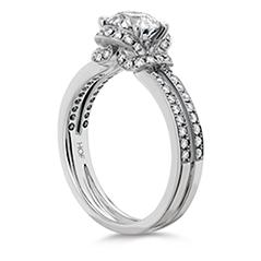 Optima Double Row Engagement Ring